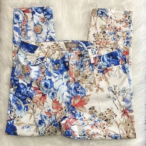 Chico's Floral High Rise Ankle Pants